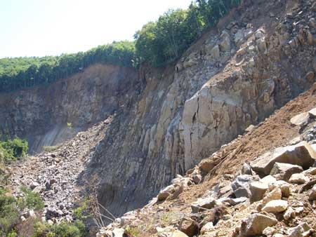 写真7:滑落崖付近