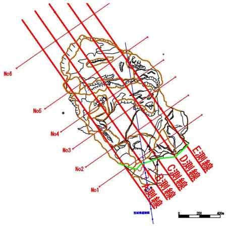 図-1 平面図・断面図(D測線)1