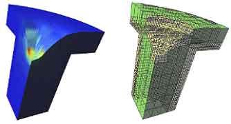 図-3 ボクセル法による貫入の解析