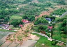 土砂流動現場の写真
