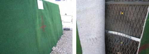 図-8 衝突後の変状(タイプ1:ジオテキ補強土)