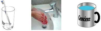 インフルエンザ予防の図(歯磨き、手洗い、うがい)