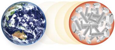 地球で最も多い元素(重量比)/鉄のイメージ