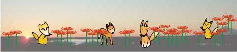 曼珠沙華とキツネのイメージ図