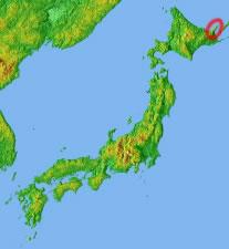 知床半島の位置