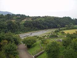 戸川公園を望む